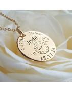 Colliers Bijoux avec Médaille | Gravure Bijou | Alomi